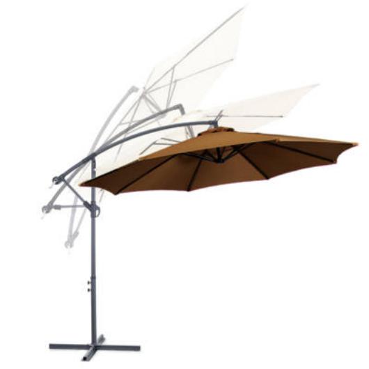Függő napernyő, 2,7m, kheki