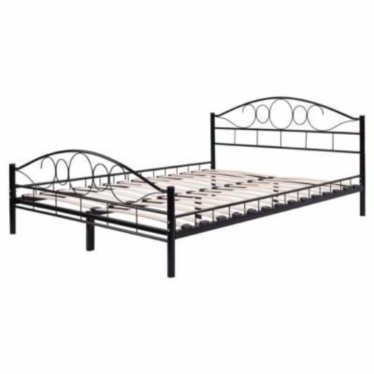 Fém ágykeret ajándék ágyráccsal 160x200cm, fekete