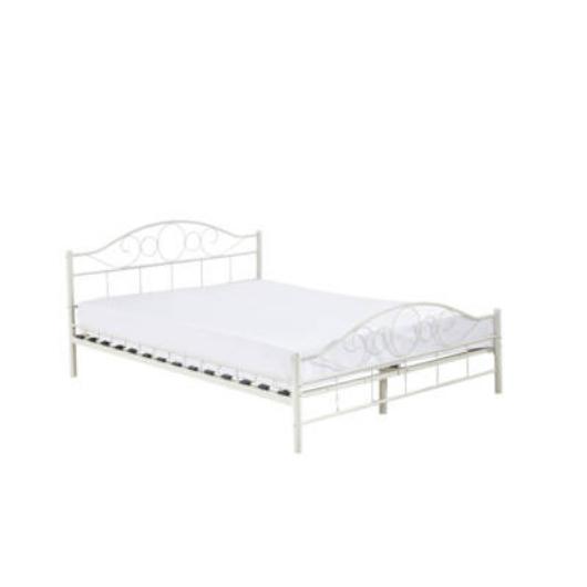 Fém ágykeret ajándék ágyráccsal 160x200cm, fehér