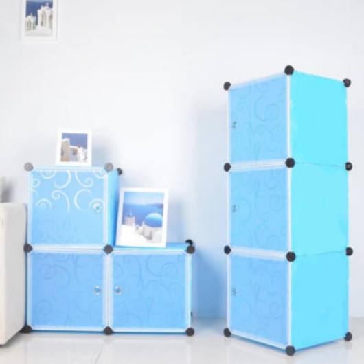 Műanyag elemes szekrény, kék