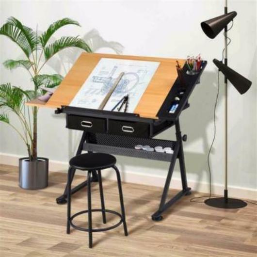 Dönthető rajzasztal ajándék székkel