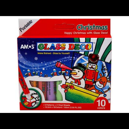 Üvegfesték szett karácsonyi 10 db-os Amos