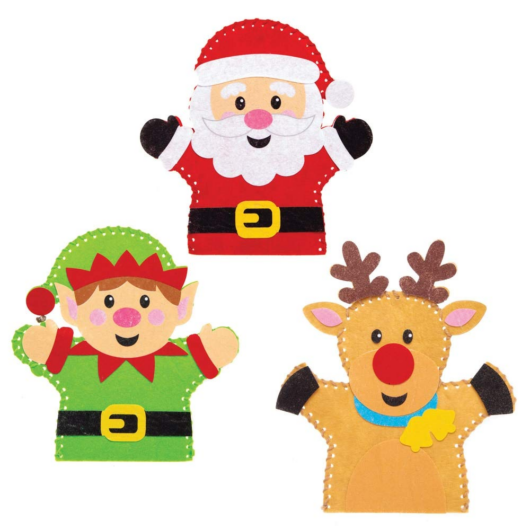 Karácsonyi báb varrókészlet 4 db-os Baker Ross AT185