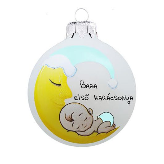 Baba első karácsonya holdas fiú - Karácsonyfadísz