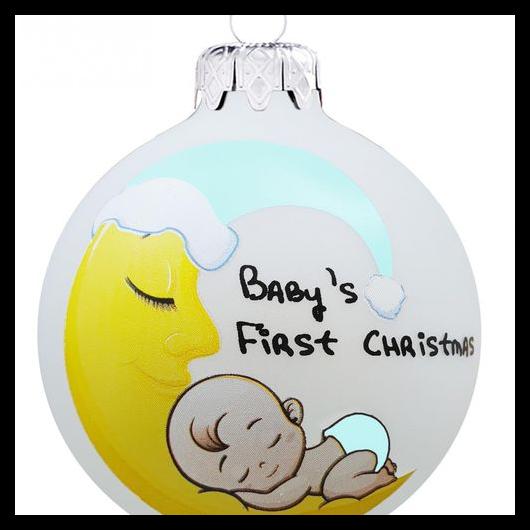 Baby first christmas holdas fiú - Karácsonyfadísz
