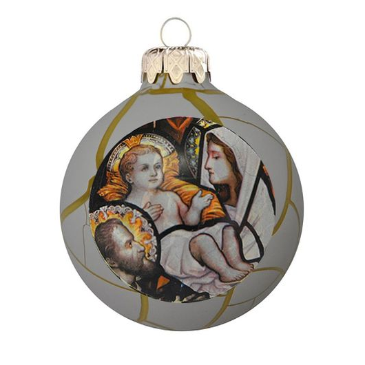 Szent család fehér antikolt