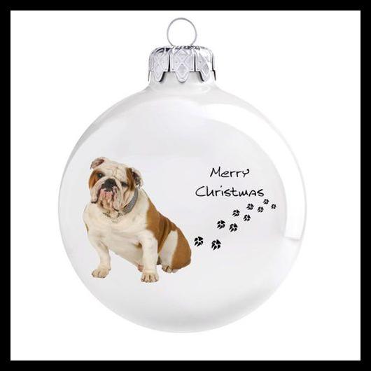 Angol bulldog - Karácsonyfadísz