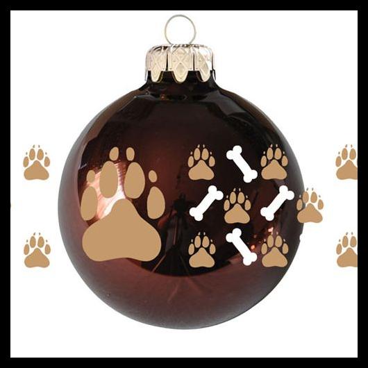Kutya mancs sorminta fényes gesztenye 8cm - Karácsonyfadísz