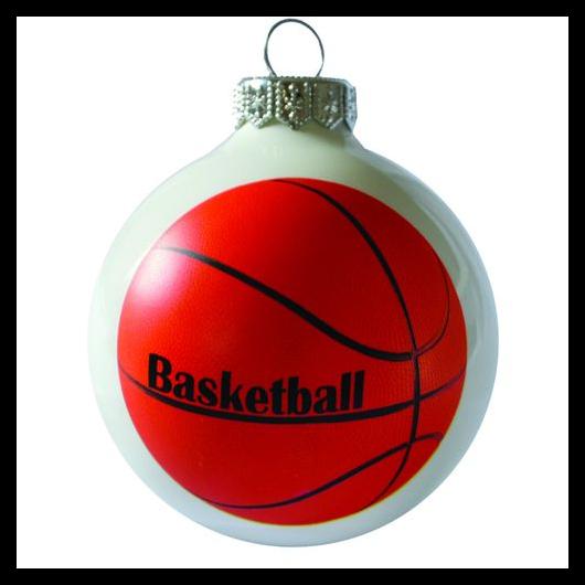 Basketball 8cm - Karácsonyfadísz