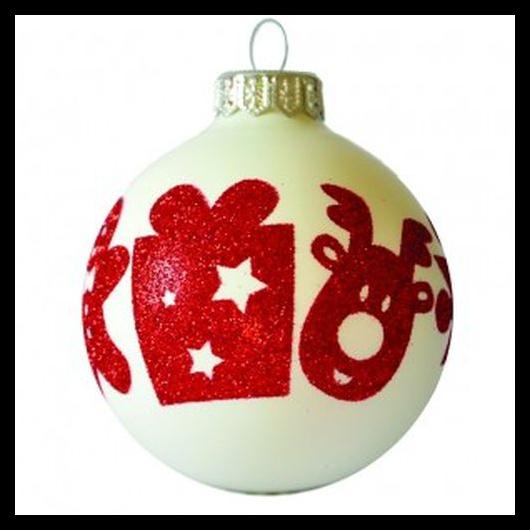Vidám karácsonyi sorminta, fehér-piros
