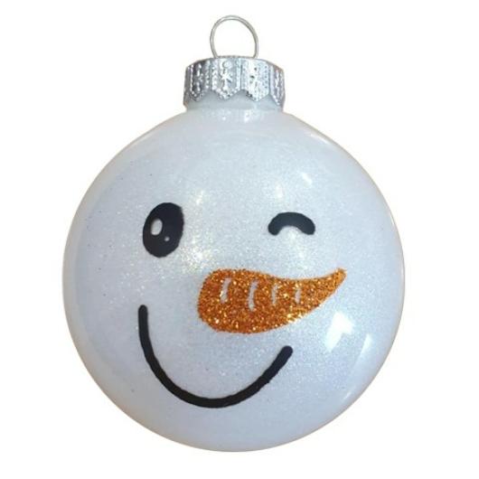 Hóember arcok - Karácsonyfadísz