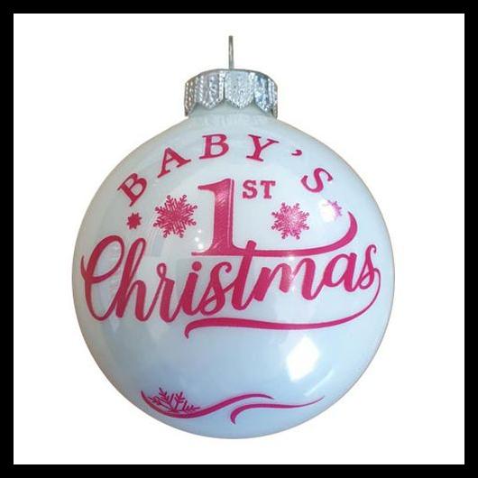 Baby's 1. Christmas első születésnapra lány - Karácsonyfadísz