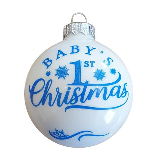 Baby's 1. Christmas első születésnapra fiú - Karácsonyfadísz