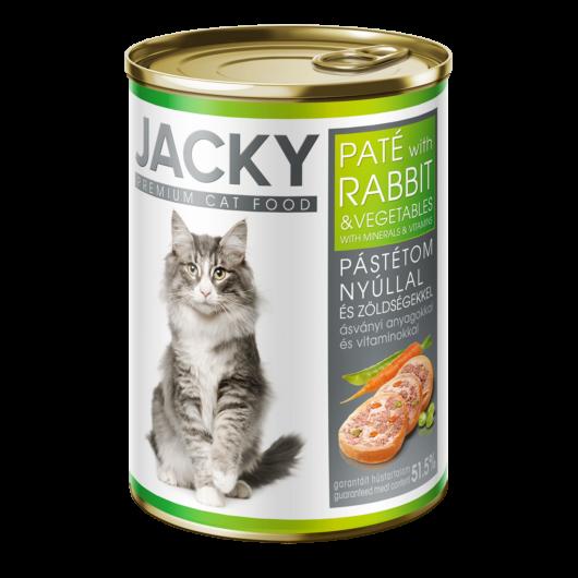 Jacky macska konzerv pástétom nyúl-zöldség 400g