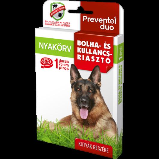 PREVENTOL DUO bolha, kullancs riasztó nyakörv kutyáknak 75cm