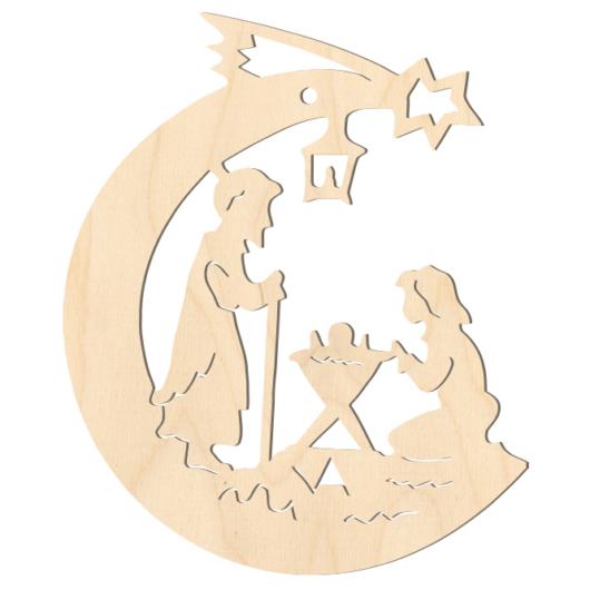 Fa karácsonyfadísz – Betlehem