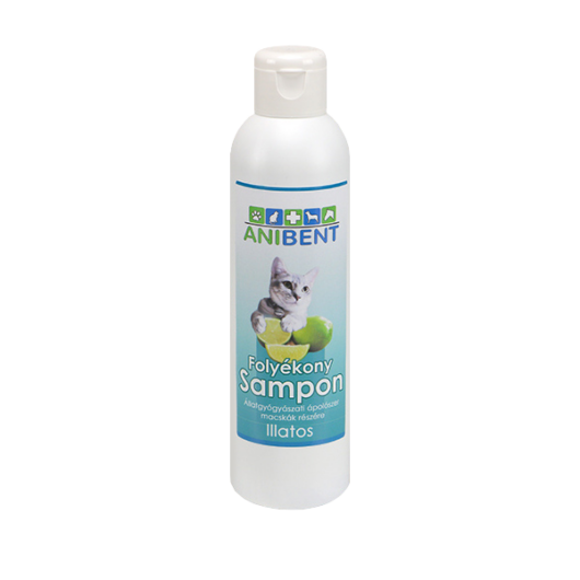 ANIBENT Folyékony sampon cicáknak illatos