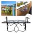 Kép 1/4 - Lehajtható balkon asztal - fekete
