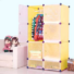 Kép 2/2 - Műanyag elemes szekrény, citromsárga