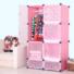 Kép 2/2 - Műanyag elemes szekrény, rózsaszín