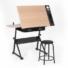 Kép 5/7 - Dönthető rajzasztal ajándék székkel