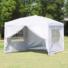 Kép 2/6 - Party sátor fehér színben 3x6 méter