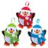 Kép 2/5 - Karácsonyi pingvin dekorálható függődísz készlet 3 db-os Baker Ross AT238