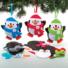 Kép 3/5 - Karácsonyi pingvin dekorálható függődísz készlet 3 db-os Baker Ross AT238