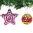 Kép 2/4 - Karácsonyi hungarocell gömb flitteres dekoráló készlet 10 db-os Baker Ross AX383