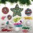 Kép 3/4 - Karácsonyi hungarocell gömb flitteres dekoráló készlet 10 db-os Baker Ross AX383