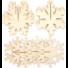 Kép 4/4 - Karácsonyi dekorálható fa 3D hópelyhek 6 db-os Baker Ross AX403