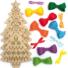 Kép 4/4 - Karácsonyfa keresztszemes varrókészlet fa függődísz 5 db-os Baker Ross AX424