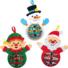 Kép 2/4 - Karácsonyi figurák flittereles dekorálókészlet 3 db-os Baker Ross AX471