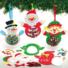 Kép 3/4 - Karácsonyi figurák flittereles dekorálókészlet 3 db-os Baker Ross AX471