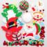 Kép 4/4 - Karácsonyi figurák flittereles dekorálókészlet 3 db-os Baker Ross AX471