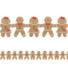 Kép 1/2 - Mézeskalács Mintás Függő Dekoráció Karácsonyra - 157 cm