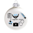 Kép 2/2 - A legjobb orvos matt fehér 8cm - Karácsonyfadísz