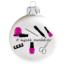 Kép 2/2 - A legjobb manikűrös matt fehér 8cm - Karácsonyfadísz