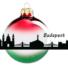Kép 2/2 - Budapest piros/fehér/zöld 8cm - Karácsonyfadísz