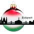 Kép 1/2 - Budapest piros/fehér/zöld 8cm - Karácsonyfadísz