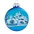 Kép 2/2 - Jeges falu TR matt kék 8cm - Karácsonyfadísz