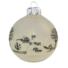 Kép 2/2 - Jeges falu TR matt fehér 8cm - Karácsonyfadísz