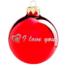 Kép 1/2 - I love you fényes piros ezüst nyomással 8cm - Karácsonyfadísz