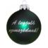 Kép 1/2 - A legjobb szomszéd matt zöld ezüst nyomással 8cm - Karácsonyfadísz