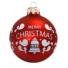 Kép 1/2 - Merry Christmas matt piros