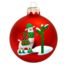 Kép 2/2 - Láma matt piros 8cm - Karácsonyfadísz