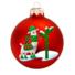 Kép 1/2 - Láma matt piros 8cm - Karácsonyfadísz