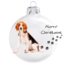 Kép 1/2 - Beagle porcelán hatású üveg fehér 8cm - Karácsonyfadísz