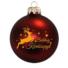 Kép 2/2 - Boldog Karácsonyt + szarvas matt bordó - Karácsonyfadísz