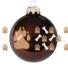 Kép 1/2 - Kutya mancs sorminta fényes gesztenye 8cm - Karácsonyfadísz